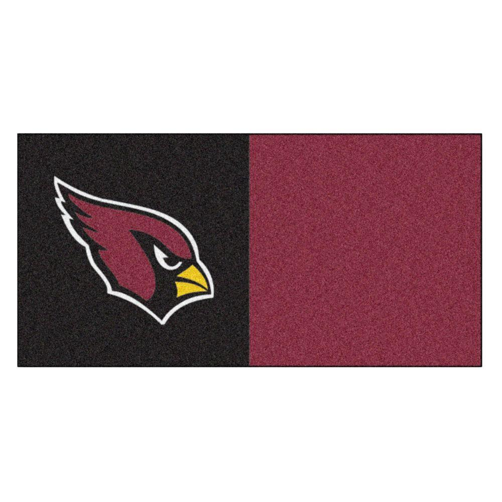 FANMATS NFL - Arizona Cardinals 18 in. x 18 in. Carpet Tile (20 Tiles/Case)