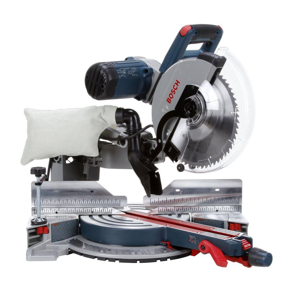 15 Amp 12 in. Corded Dual-Bevel Sliding Glide Miter Saw with