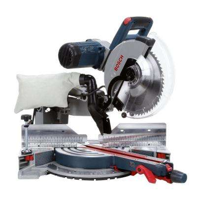 15 Amp Corded 12 in. Dual-Bevel Glide Miter Saw with 60-Tooth Blade