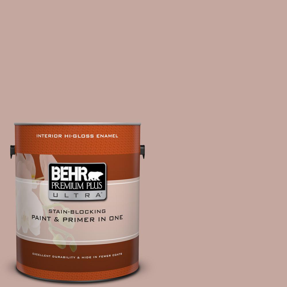 1 gal. #HDC-NT-06 Patchwork Pink Hi-Gloss Enamel Interior Paint