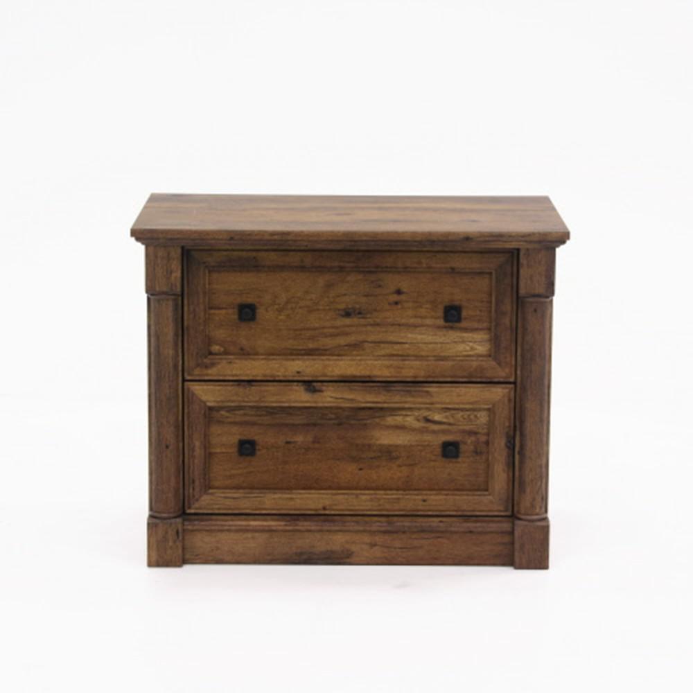 SAUDER Palladia Collection Vintage Oak 2-Drawer Lateral File ...