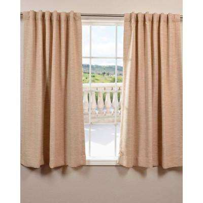 Semi-Opaque Ginger Bellino Blackout Curtain - 50 in. W x 63 in. L (Panel)