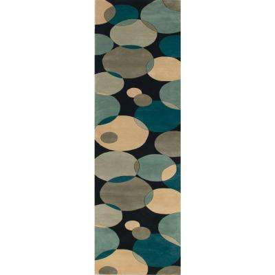 Contempo Teal 3 ft. x 8 ft. Indoor Runner Rug