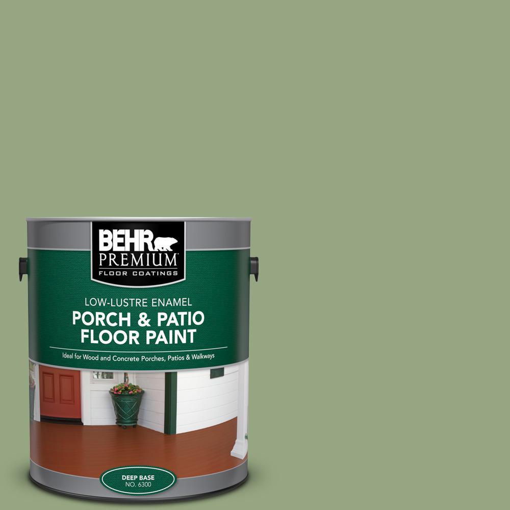 Behr Premium 1 Gal M380 5 Hillside Grove Low Lustre Enamel Interior Exterior Porch And Patio Floor Paint 630001 The Home Depot