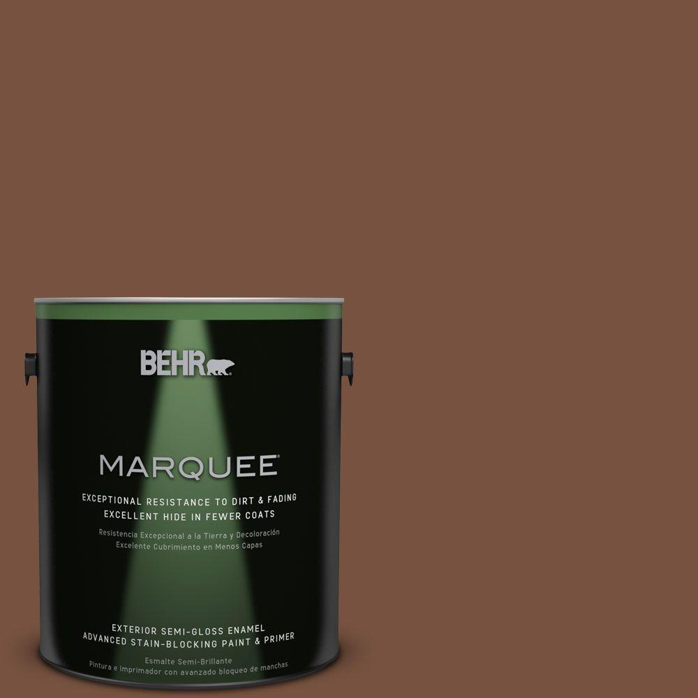 1-gal. #S200-7 Earth Fired Red Semi-Gloss Enamel Exterior Paint