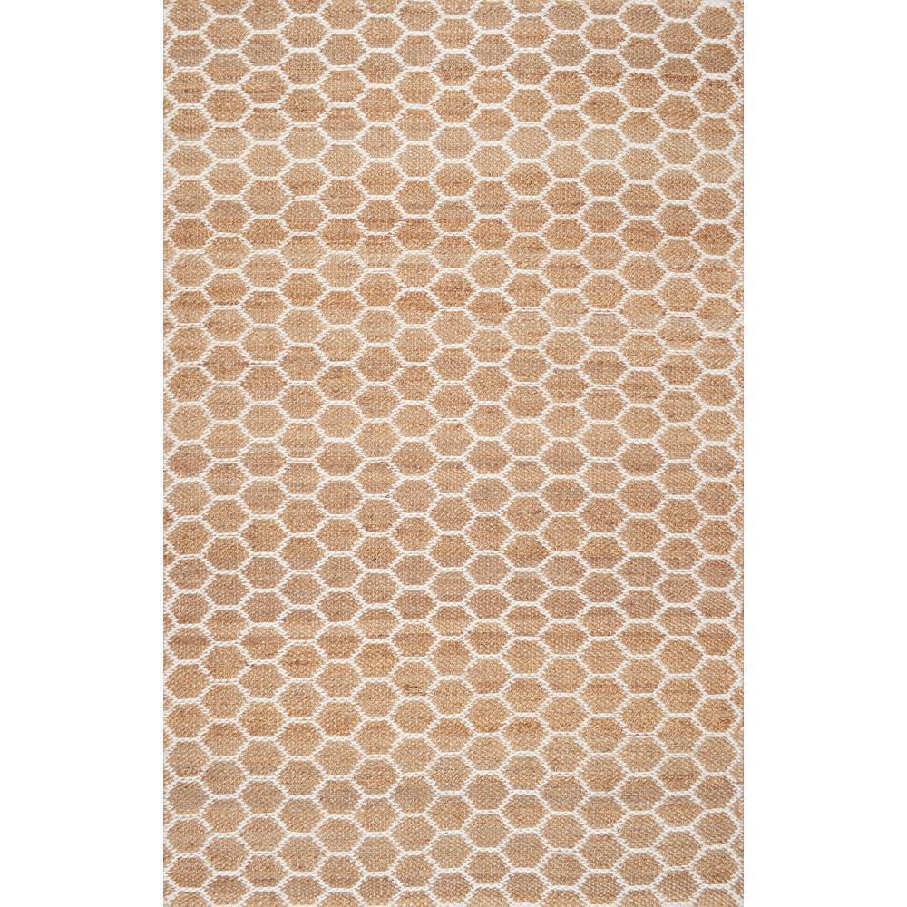 Nuloom Alisha Honeycomb Reversible Jute Natural 8 Ft X 10 Area Rug