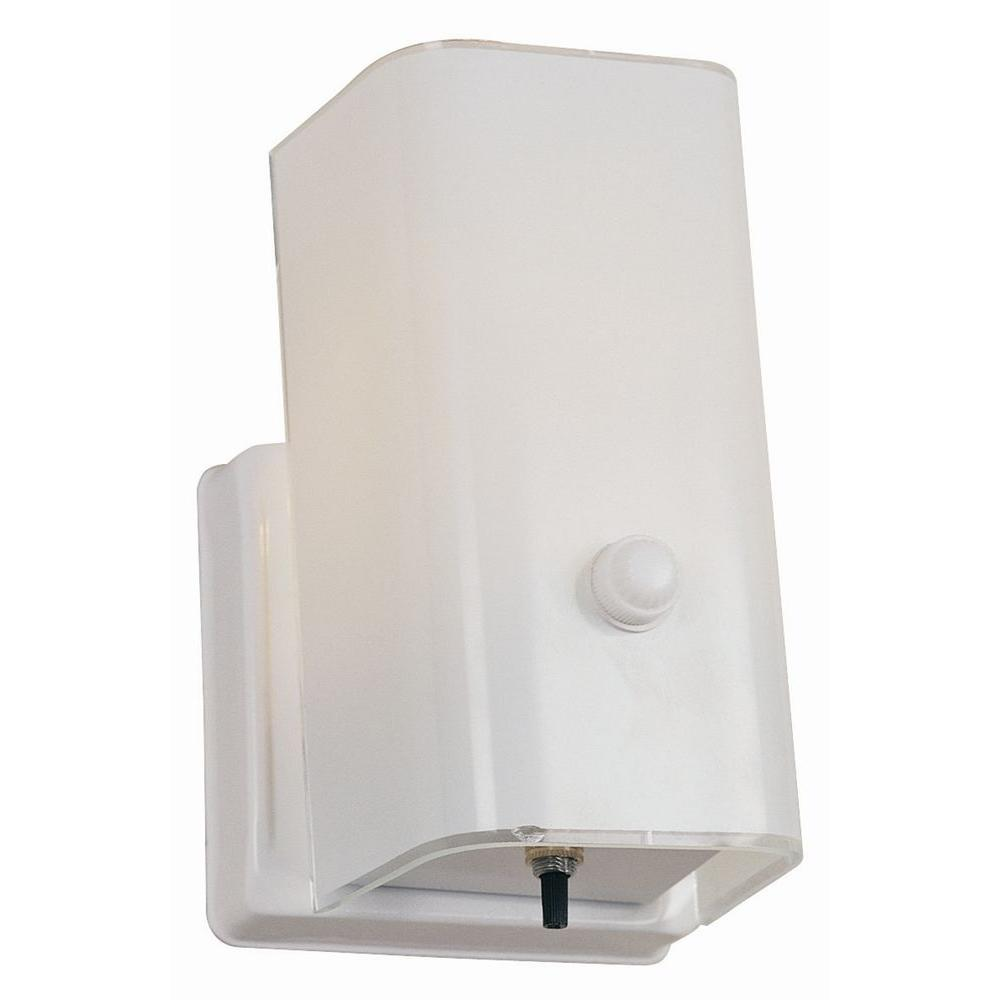 Design House 1 Light White Sconce And Switch