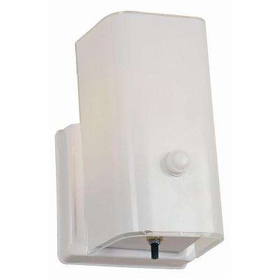 1-Light White Sconce and Switch