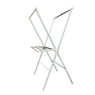 White Folding Laundry Rack