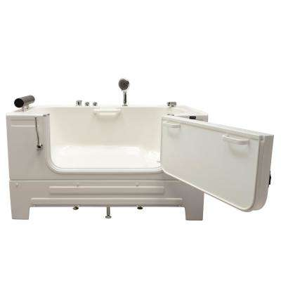 Neptune 59 in. Walk-In Soaking Bathtub in White with Right Drain