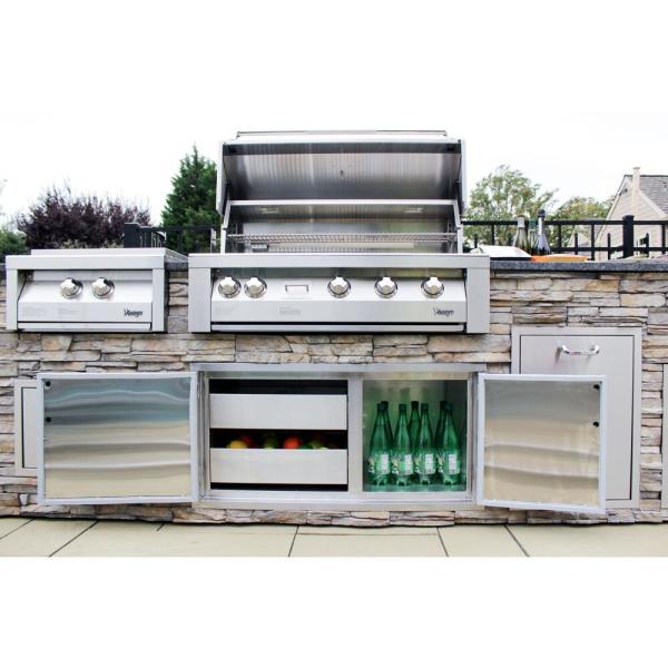 42 In Built In Natural Gas Grill In Stainless With Insulated Jacket Vbq42g N 3 Kit The Home Depot