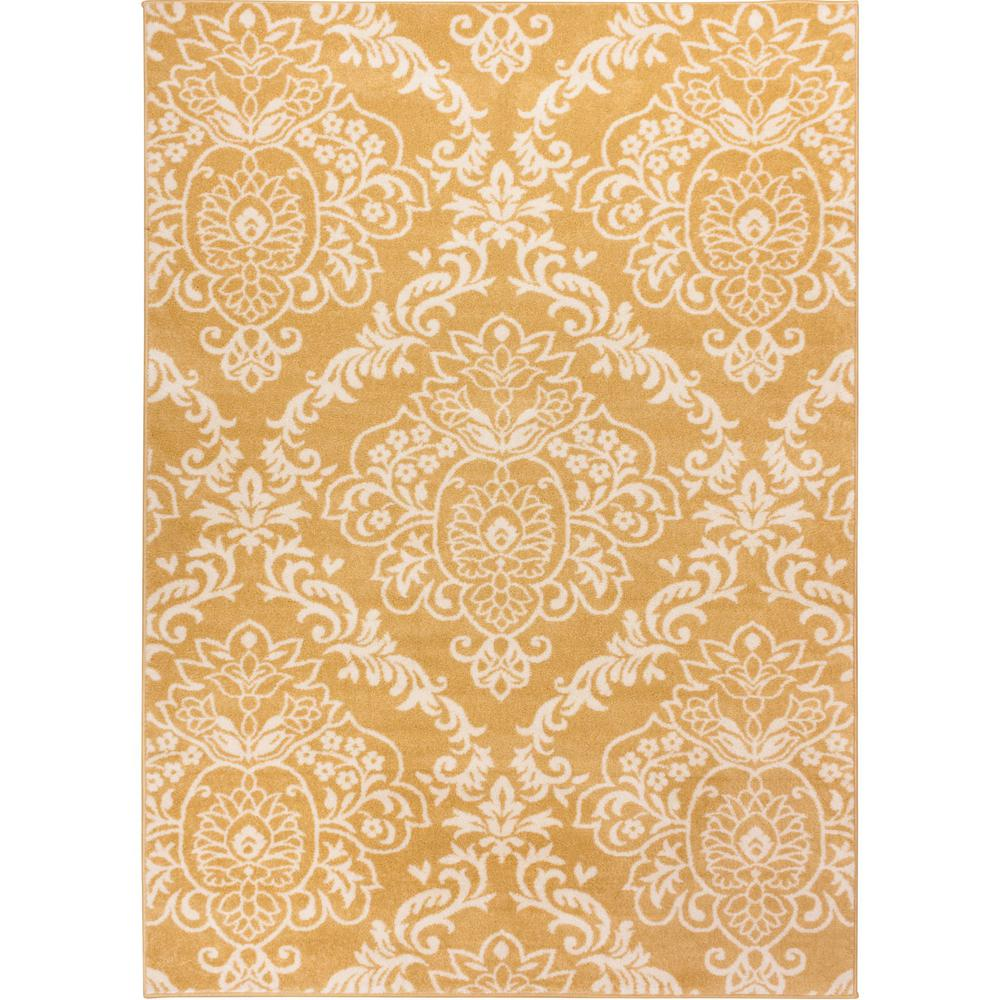 Sydney Magnolia Damask Yellow Gold 3 ft. 3 in. x 4