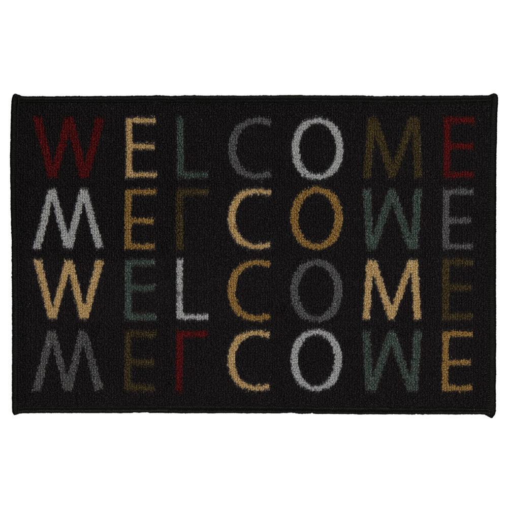 Ottomanson Doormat Collection Rectangular Multicolored Welcome Home 20 in. x 30 in. Door Mat was $14.16 now $8.5 (40.0% off)