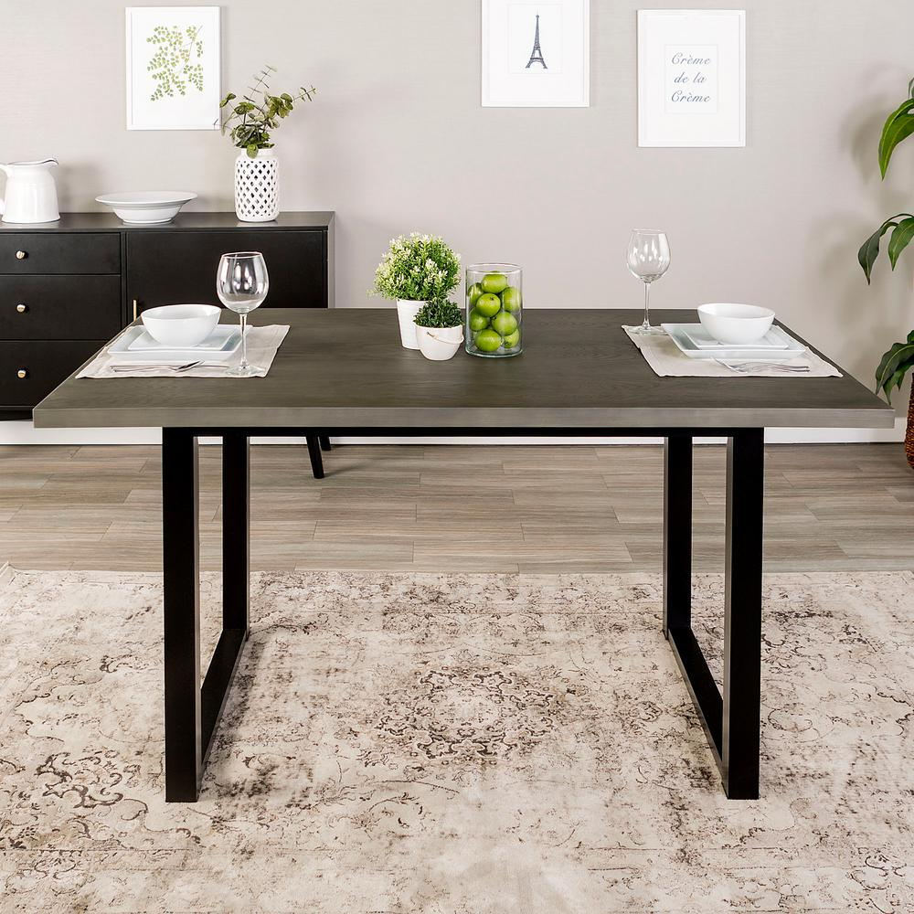 Walker Edison Furniture Company Aged Grey In Madison Wood Dining - Aged wood dining table