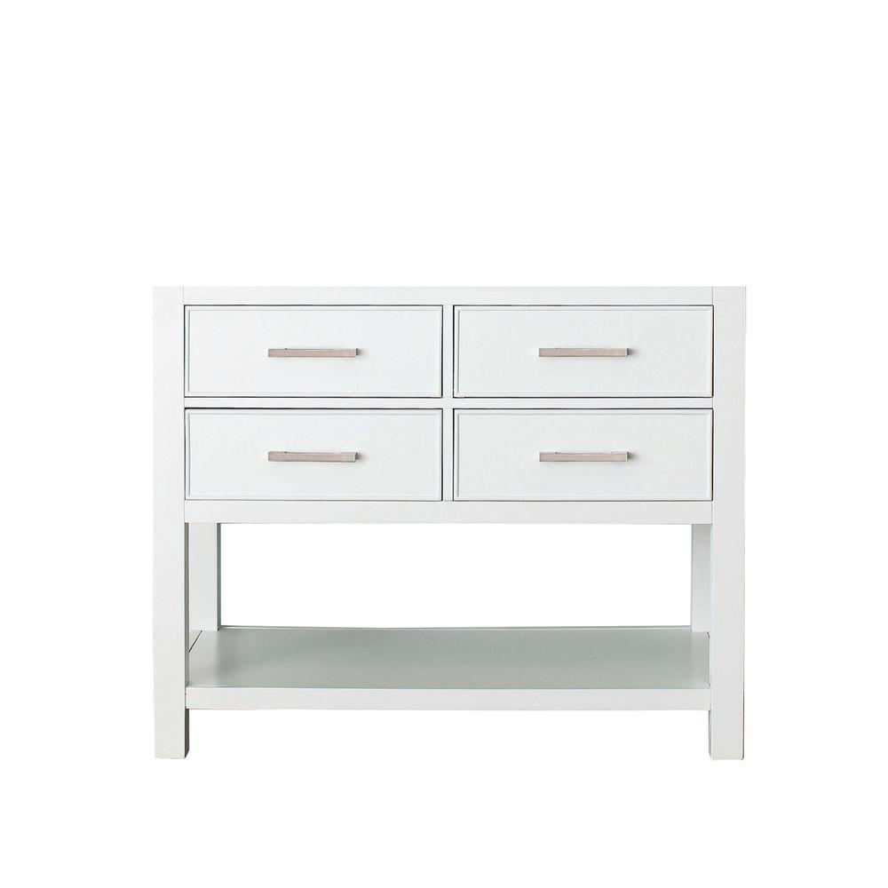 Brooks 42 in. Vanity Cabinet Only in White