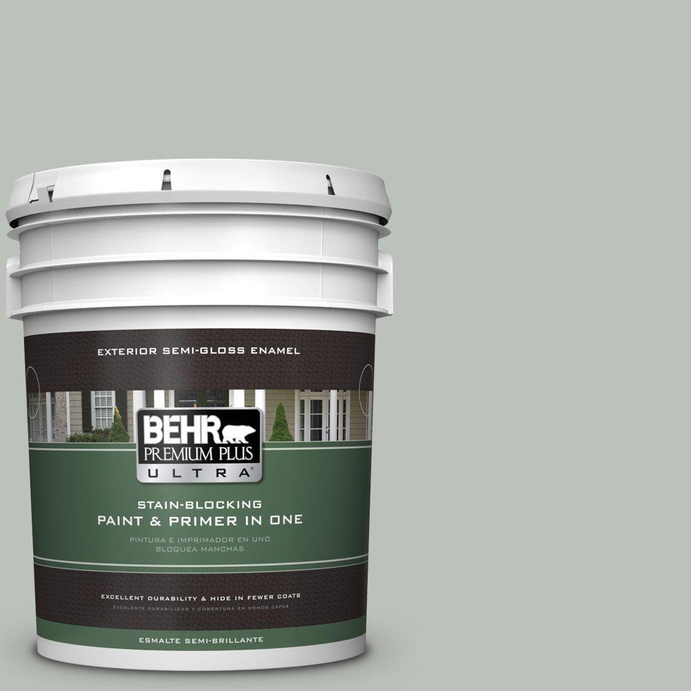 BEHR Premium Plus Ultra 5-gal. #710E-3 Rhino Semi-Gloss Enamel Exterior Paint