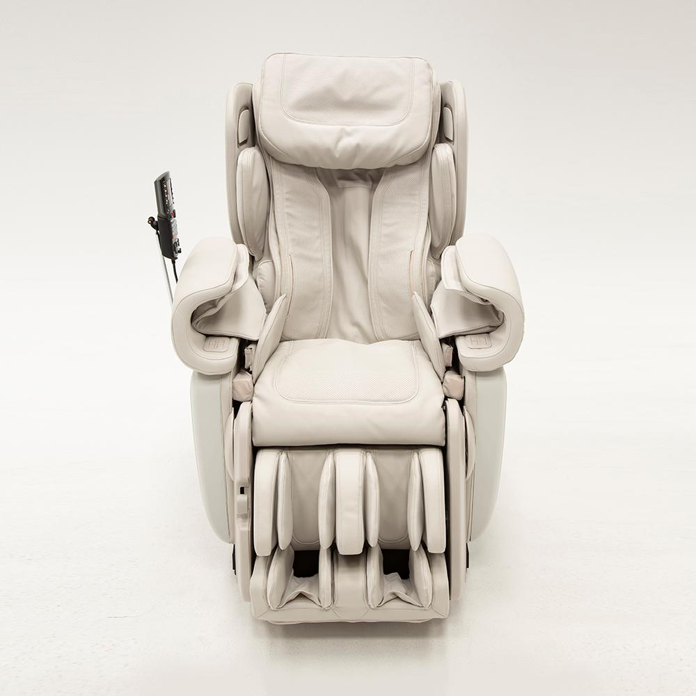 SyncaWellness Synca Wellness Kagra White Modern Synthetic Leather Premium Super Stretch 4D Massage Chair, White/Modern