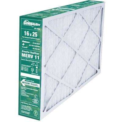 25 in. W x 16 in. H x 5 in. D ReservePro 11-GA100A29 MERV 11-Air Filter for Honeywell