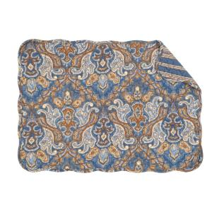 C & F Home Blue Harper Quilted Placemat (Set of 6) by C & F Home