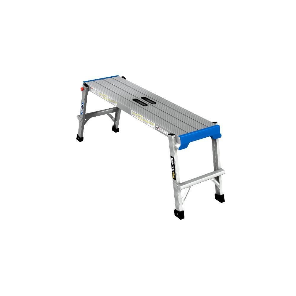 1.67 ft. x 3.75ft x 1 ft. Aluminum PRO Work Platform with 300 lb. Load Capacity