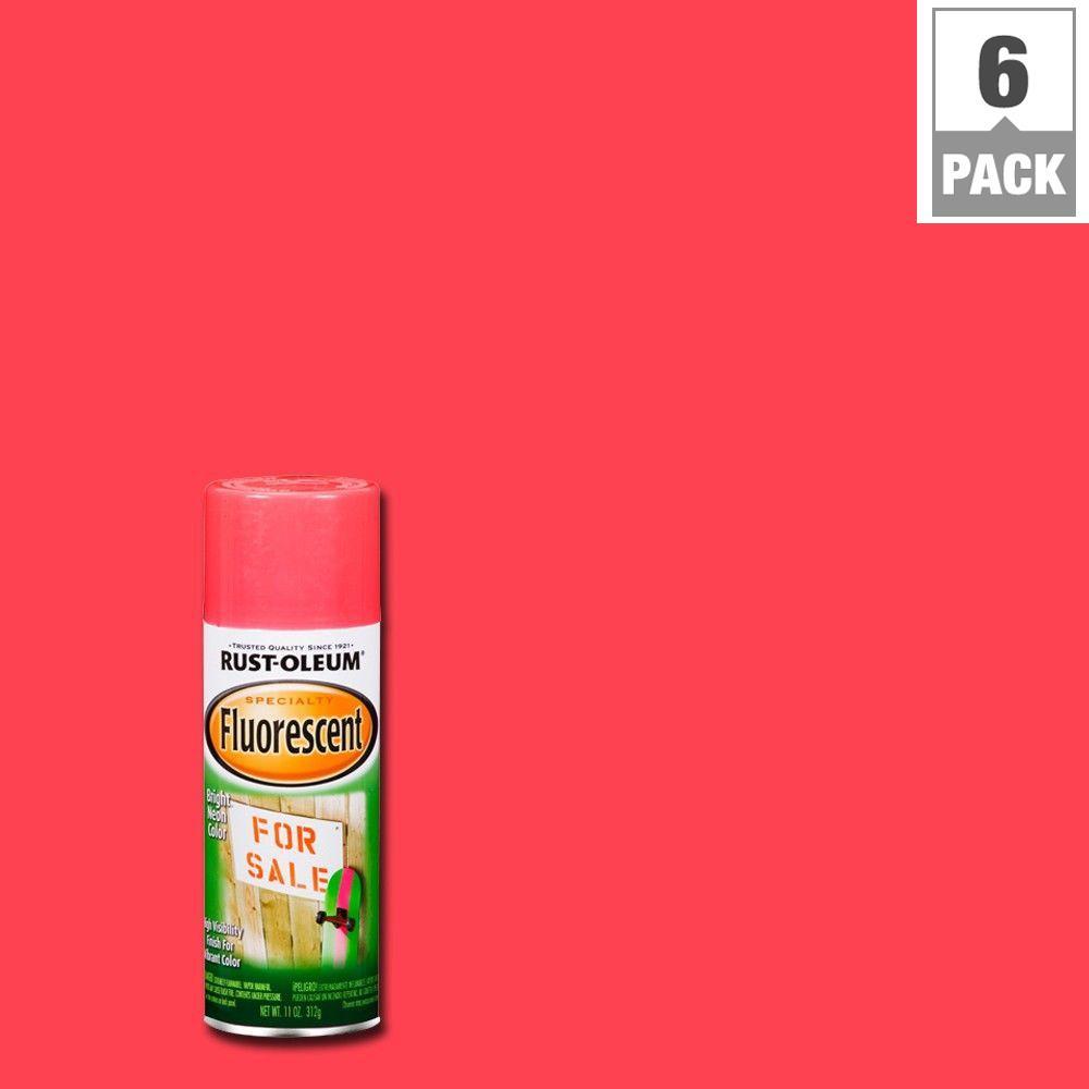 11 oz. Fluorescent Pink Spray Paint (6-Pack)