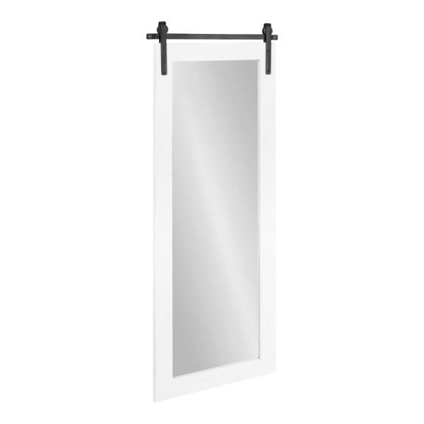 Cates 48 in. x 18 in. Classic Rectangle Framed White Wall Accent Mirror