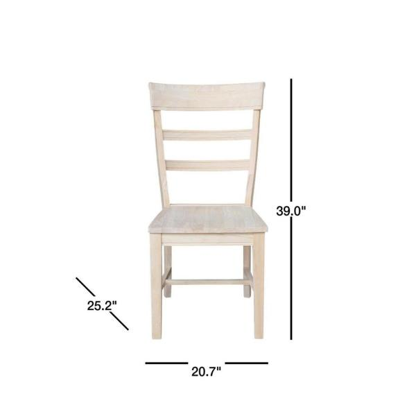 International Concepts Hammerty Unfinished Wood Dining Chair Set Of 2 C 36p The Home Depot