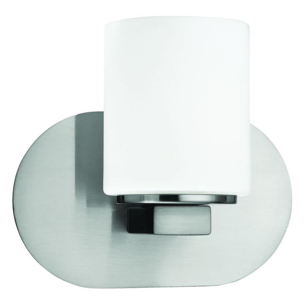 null Evry Collection 1-Light Satin Nickel Wall Sconce