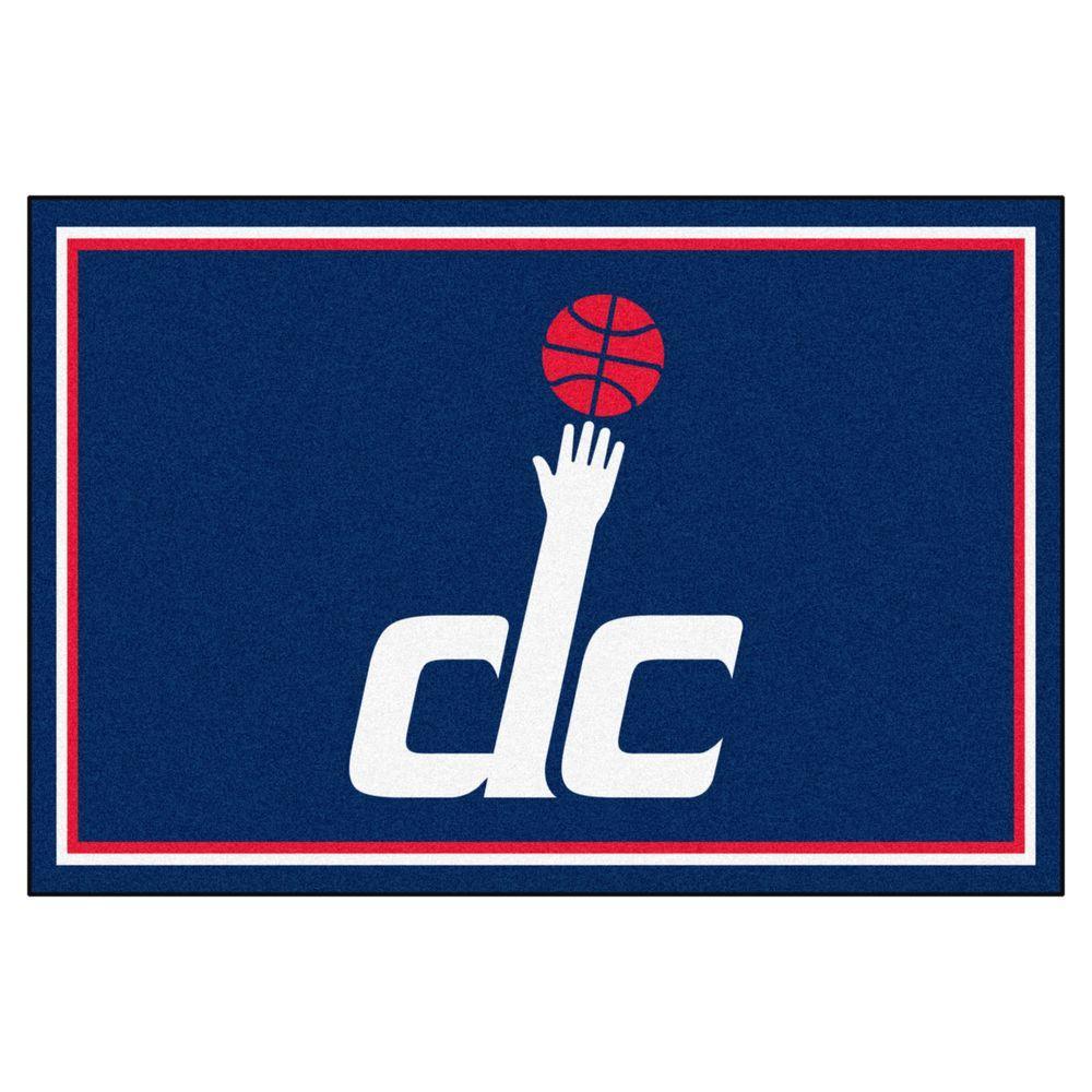 NBA Washington Wizards Blue 5 ft. x 8 ft. Indoor Area Rug