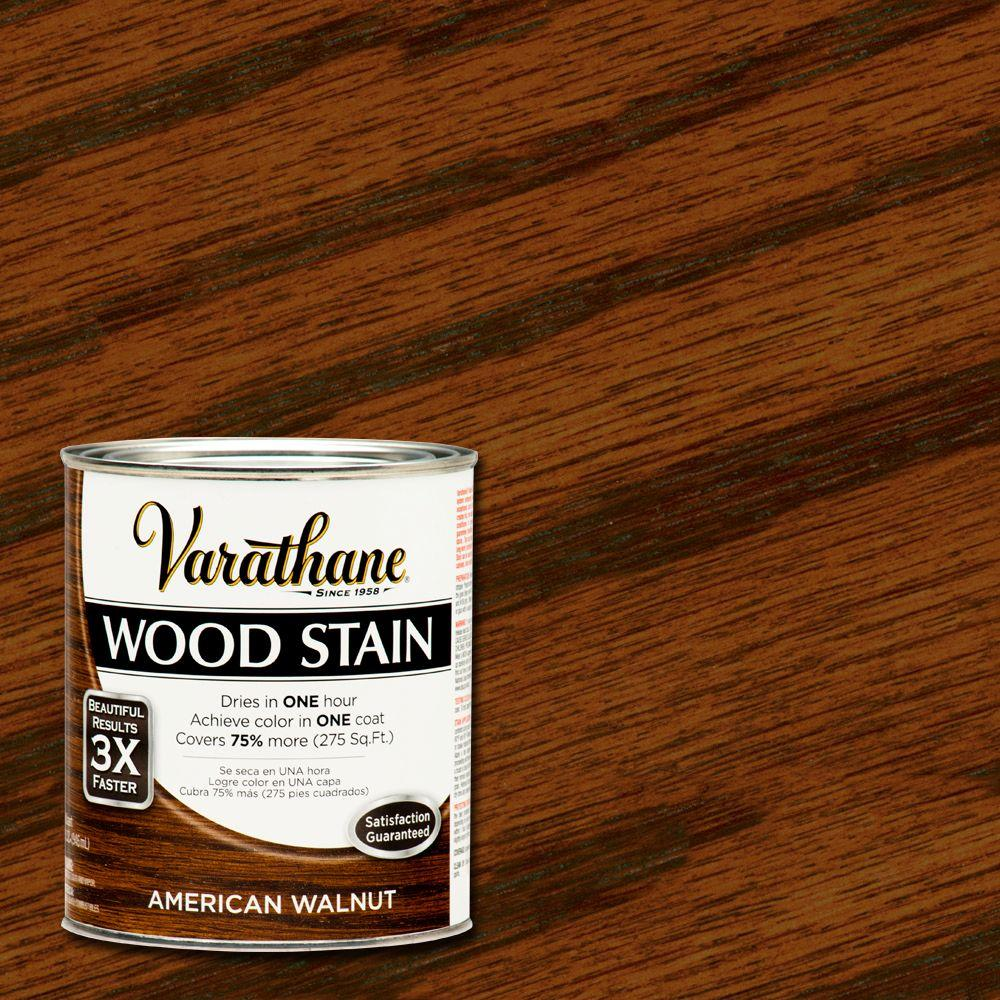 1 qt. 3X American Walnut Premium Wood Stain (Case of 2)
