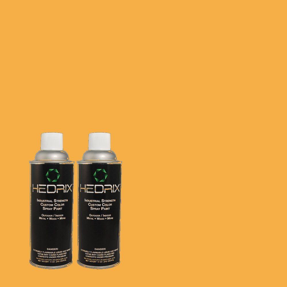 Hedrix 11 oz. Match of 290B-6 Squash Flat Custom Spray Paint (2-Pack)