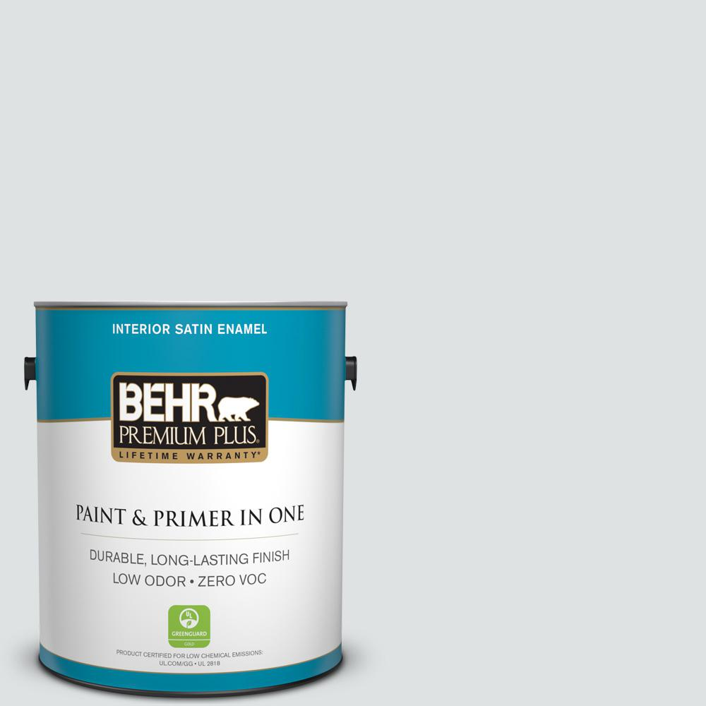 1-gal. #W-F-520 Ash White Zero VOC Satin Enamel Interior Paint