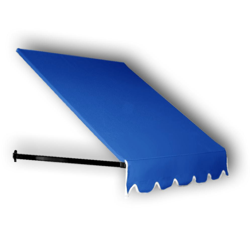 Wide Dallas Retro Window Entry Awning 24 In H X 48 D Bright Blue