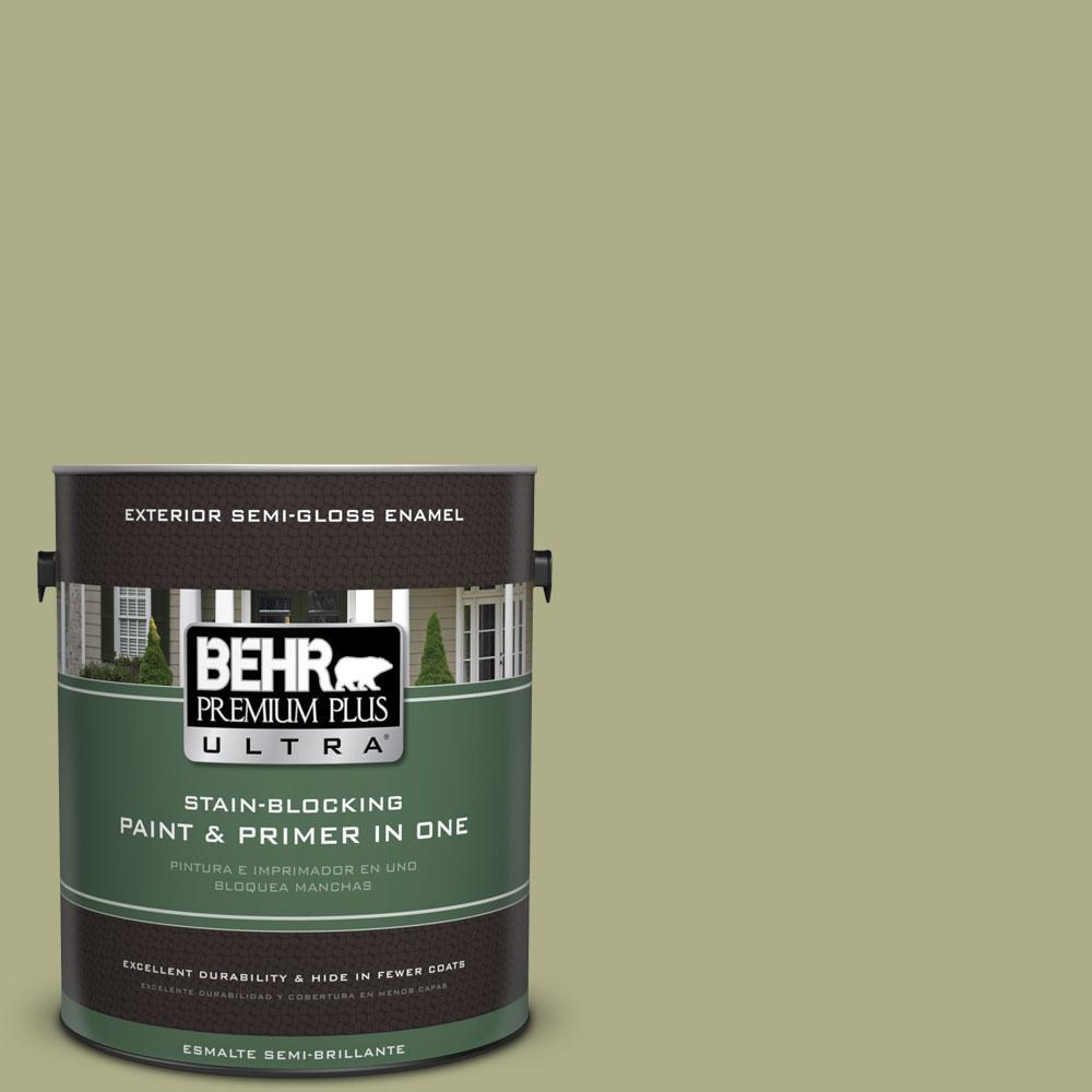 BEHR Premium Plus Ultra 1-gal. #PPU9-21 Sanctuary Semi-Gloss Enamel Exterior Paint