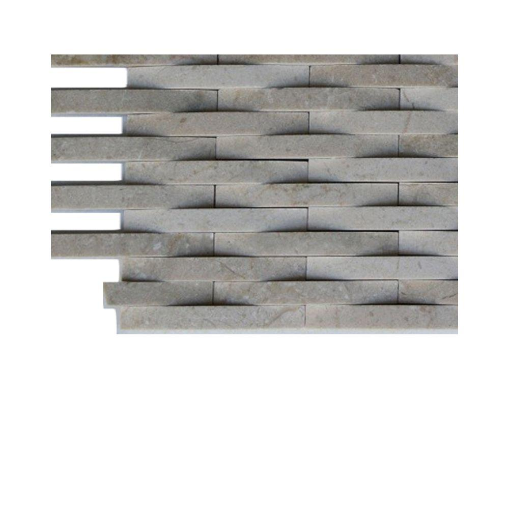 - Ivy Hill Tile 3D Reflex Athens Grey Stone Glass Tile - 3 In. X 6