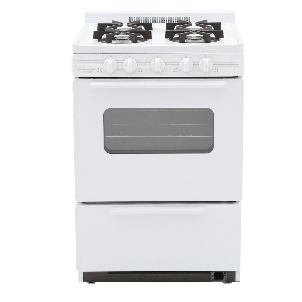24 in. 2.97 cu. ft. Battery Spark Ignition Gas Range in