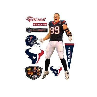 79 in H x 39 in. W J.J. Watt Entrance Wall Mural
