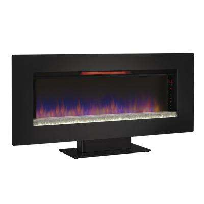 Felicity 47 in. Wall-Mount Infrared Electric Fireplace in Black