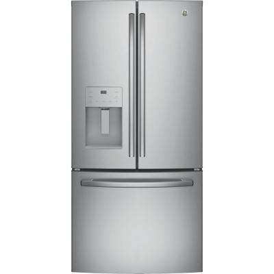 17.5 cu. ft. Counter-Depth French-Door Refrigerator in Stainless Steel