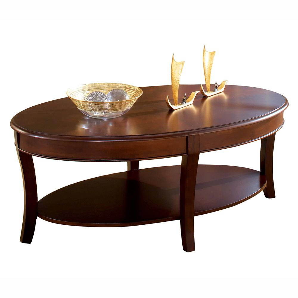 Steve Silver Troy Medium Cherry Traditional Cocktail Table