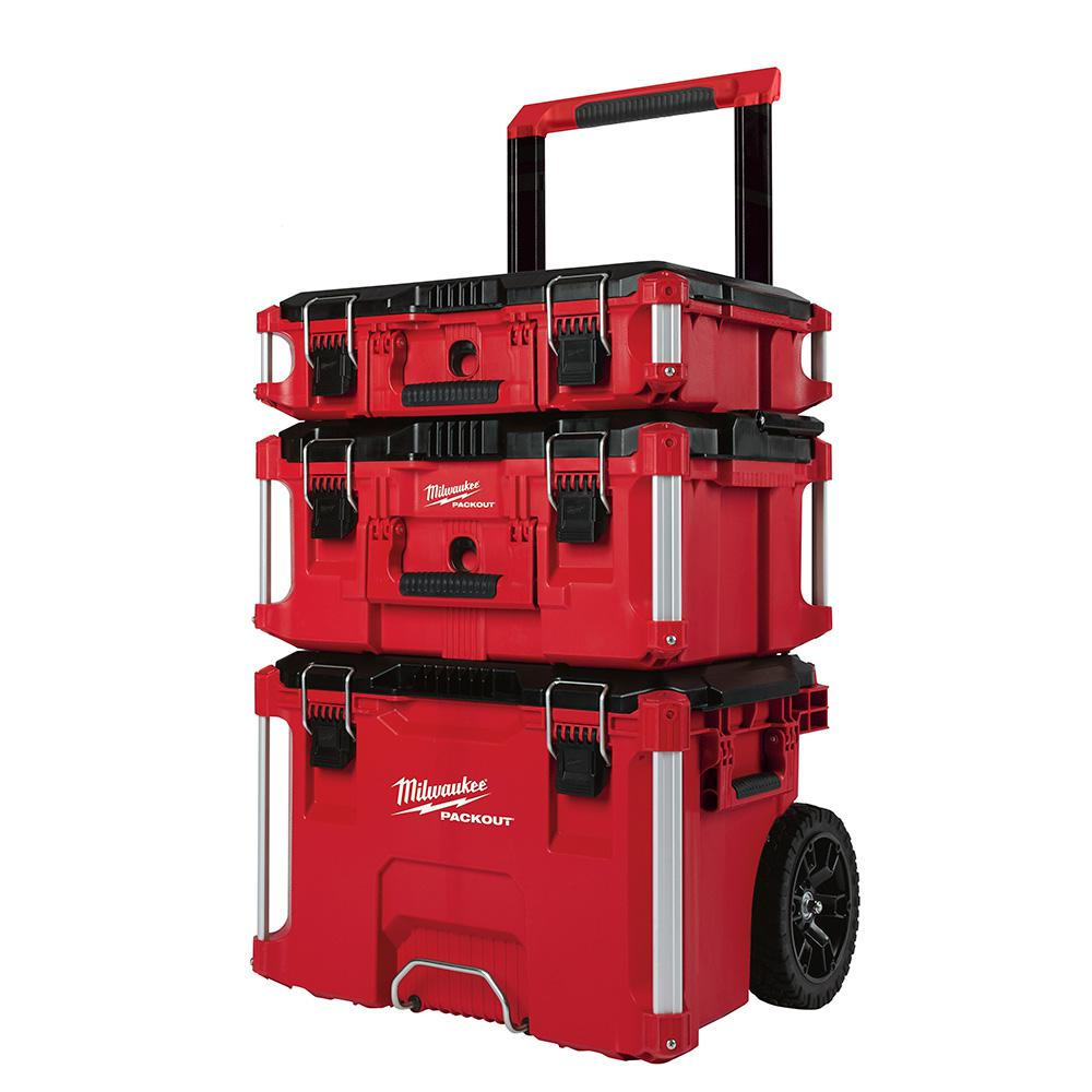 milwaukee 22 in packout modular tool box storage system 233663 the home depot. Black Bedroom Furniture Sets. Home Design Ideas