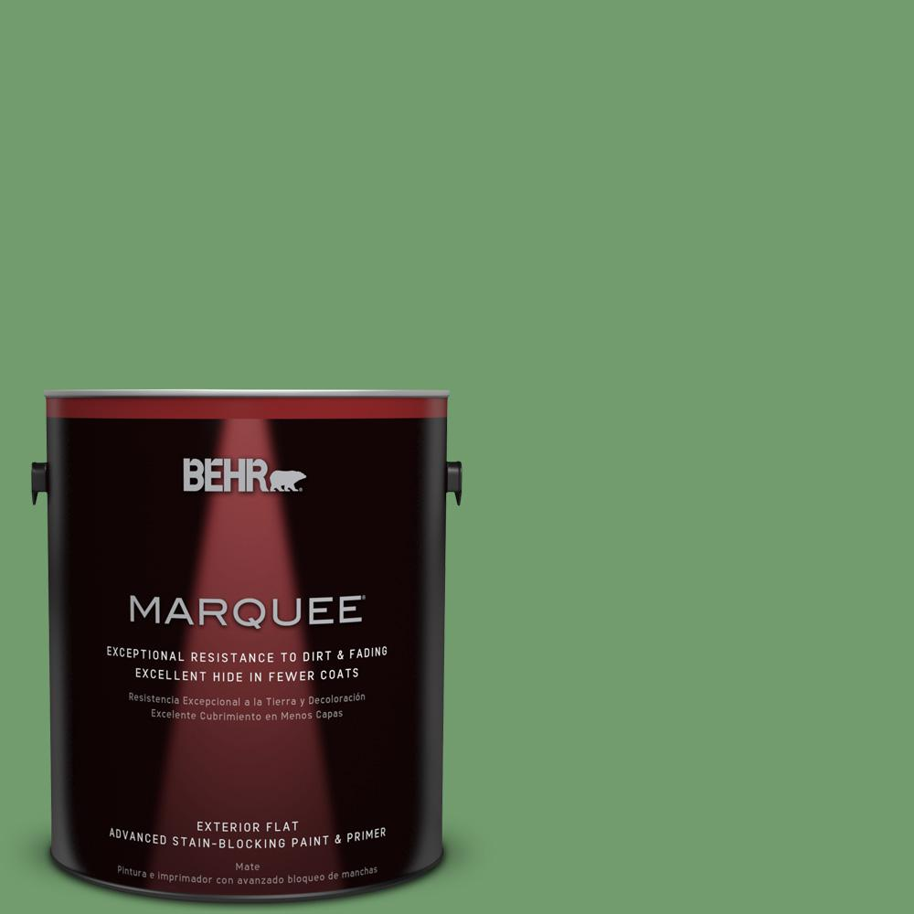 1-gal. #450D-6 Shire Green Flat Exterior Paint