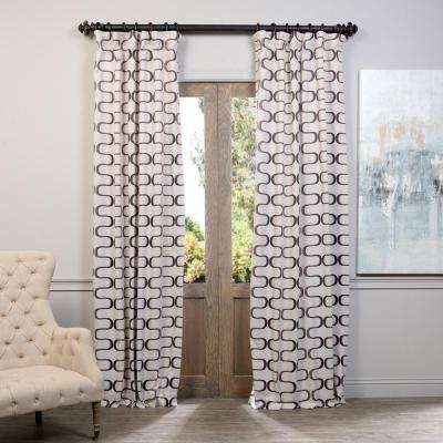 Semi-Opaque Retro Java Blackout Curtain - 50 in. W x 84 in. L (Panel)