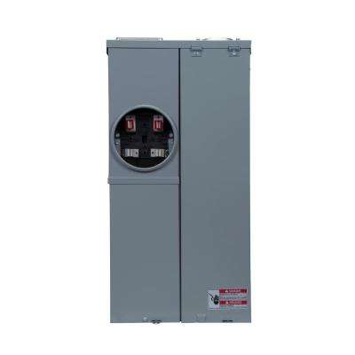 CH 200 Amp 8-Space 8-Circuit EUSERC Meter Breaker with Surface Cover