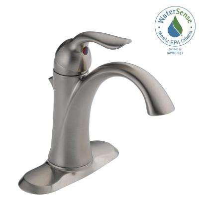 Lahara Single Hole Single-Handle Bathroom Faucet with Metal Drain Assembly in Stainless
