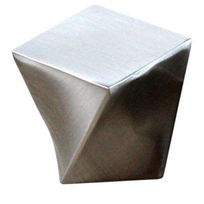 Twist 1 in. (25 mm) Brushed Nickel Solid Square Cabinet Knob (10-Pack)