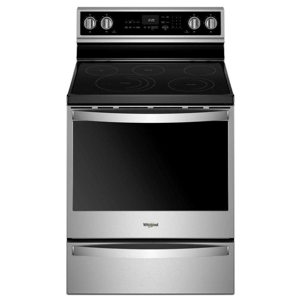 30 in. 6.4 cu. ft. Electric Range with Self-Cleaning in Fingerprint
