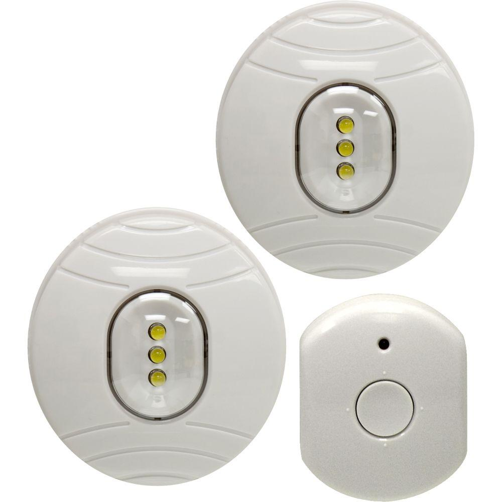 GE LED Puck Lights (2-Pack) with Wireless Remote Control