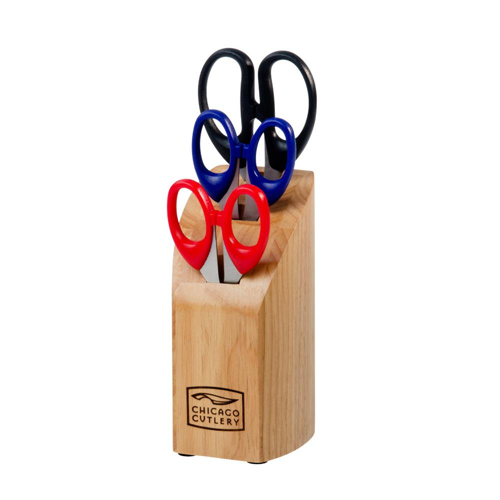 Chicago Cutlery 4-Piece Scissors Block Set-1071037 - The Home Depot