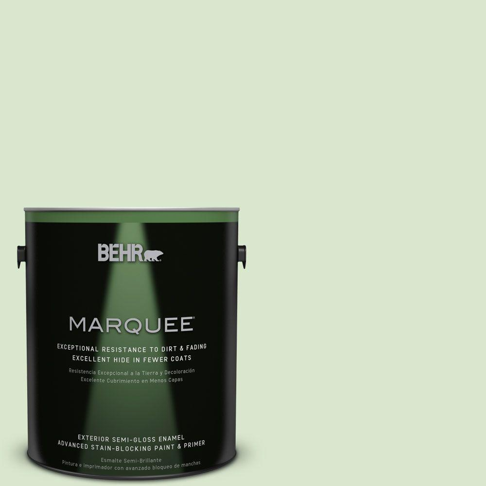 BEHR MARQUEE 1-gal. #T12-18 Minty Frosting Semi-Gloss Enamel Exterior Paint